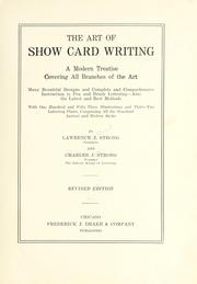 Cover of: The art of show card writing by Charles J. Strong