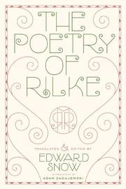 Poems by Rainer Maria Rilke