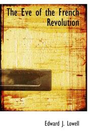 The Eve of the French Revolution PDF