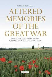 Altered Memories of the Great War PDF