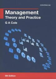 Management by G. A. Cole