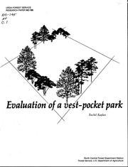 Evaluation of a vest-pocket park PDF