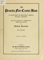 Couverture de: Le livre Priscilla crochet filet par Belle Robinson