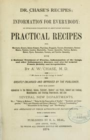 Dr. Chase's recipes by A. W. Chase