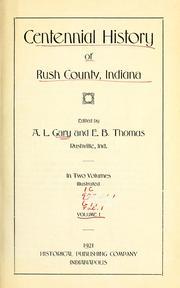 Centennial history of Rush County, Indiana PDF