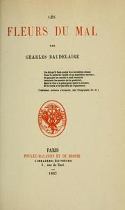 Fleurs du mal by Charles Baudelaire