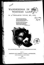Cover of: Wanderings in the western land by A. Pendarves Vivian