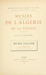 Cover of: Musée d'Alger by Georges Doublet