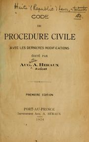 Code de procédure civile by Haiti.