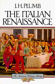 Horizon book of the Renaissance by J. H. Plumb