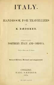 Cover of: Italy by Karl Baedeker (Firm)