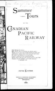 Cover of: Summer tours by the Canadian Pacific Railway by Canadian Pacific Railway Company