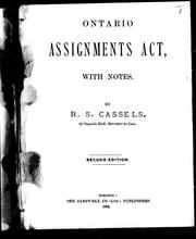 Ontario Assignments Act by 