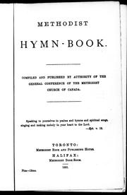 Methodist hymn-book by Methodist Church (Canada)