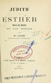 Judith et Esther, mois de Marie du XIXe siècle