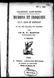 Cover of: Hurons et Iroquois by Félix Martin