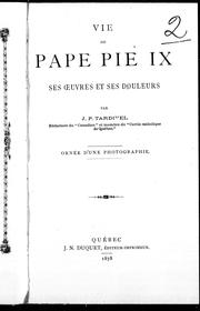 Vie du pape Pie IX by Tardivel, Jules Paul