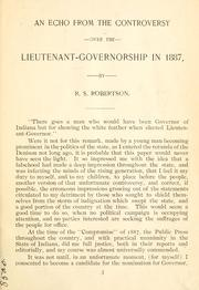 Cover of: Indiana rebellion of 1887 by Robert Stoddart Robertson