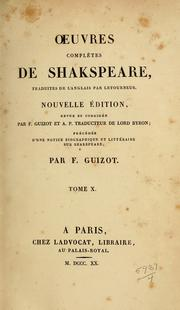 Oeuvres complètes de Shakspeare by William Shakespeare