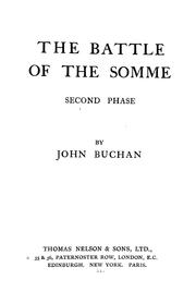 The Battle of the Somme, second phase by John Buchan