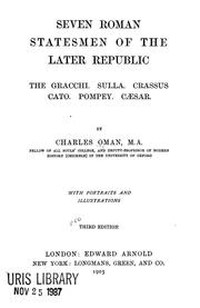 Cover of: Seven Roman statesmen of the later republic by Charles William Chadwick Oman