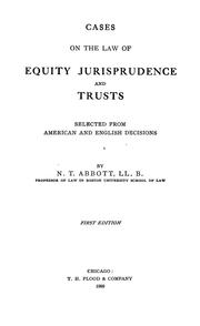 Cases on the law of equity jurisprudence and trusts