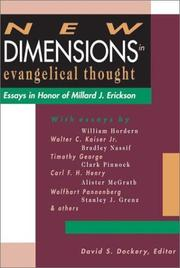 Cover of: New dimensions in evangelical thought by David S. Dockery, editor.
