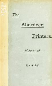 The Aberdeen printers by John Philip Edmond