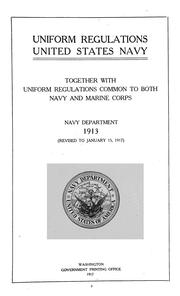 Uniform regulations, United States Navy by United States. Navy Dept.