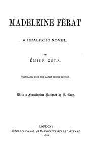 Cover of: Madeleine Férat by Émile Zola