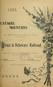 The Catskill Mountains by Ulster and Delaware railroad company