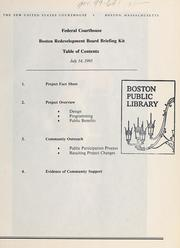 Federal courthouse: Boston redevelopment board briefing kit by