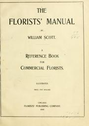 The florists' manual by