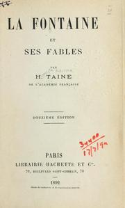 Cover of: La Fontaine et ses fables by Hippolyte Taine