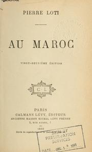 Cover of: Au Maroc [par] Pierre Loti by Pierre Loti