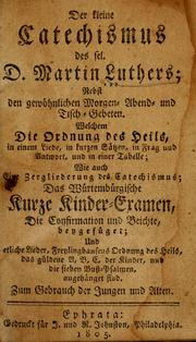 Cover of: Kleine Katechismus by Martin Luther