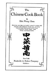 Cover of: The Chinese cook book by Shiu Wong Chan