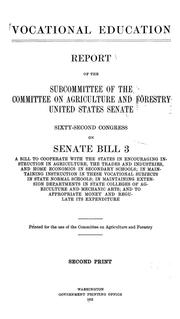 Vocational education by United States. Congress. Senate. Committee on Agriculture and Forestry.