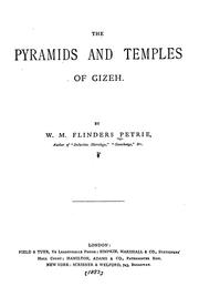 The pyramids and temples of Gizeh by W. M. Flinders Petrie