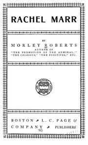 Cover of: Rachel Marr by Roberts, Morley