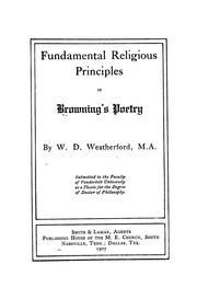 Fundamental religious principles in Brownings poetry