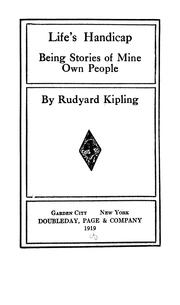 Cover of: Life's handicap by Rudyard Kipling