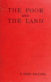 Cover of: The poor and the land by H. Rider Haggard