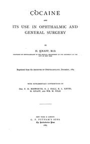 Cocaine and its use in ophthalmic and general surgery