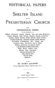 Historical papers on Shelter Island and its Presbyterian church
