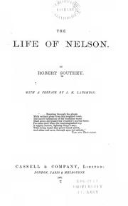 Cover of: The life of Nelson by Robert Southey