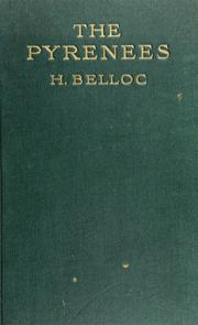 The Pyrenees by Hilaire Belloc
