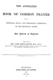 Cover of: The annotated Book of Common prayer by Church of England