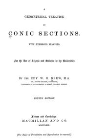 A geometrical treatise on conic sections