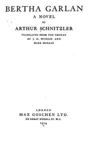 Cover of: Bertha Garlan by Arthur Schnitzler